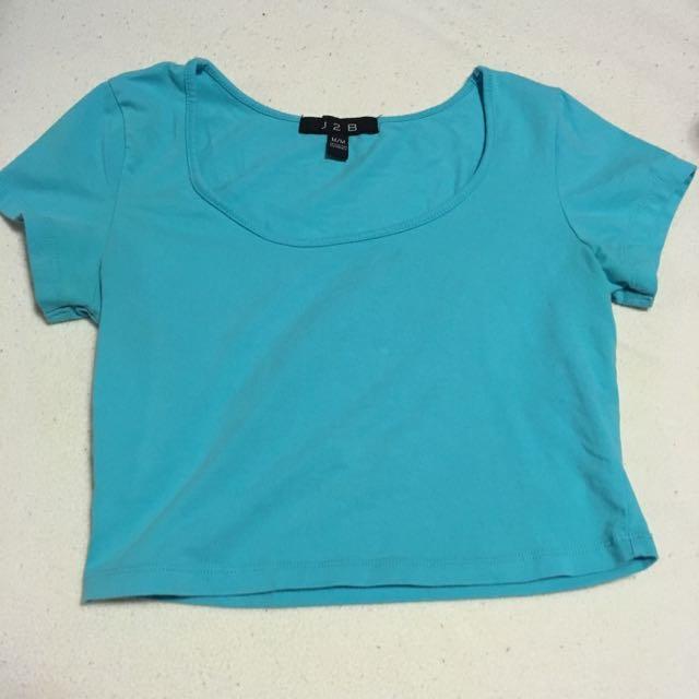 Tiffany Blue Crop Top