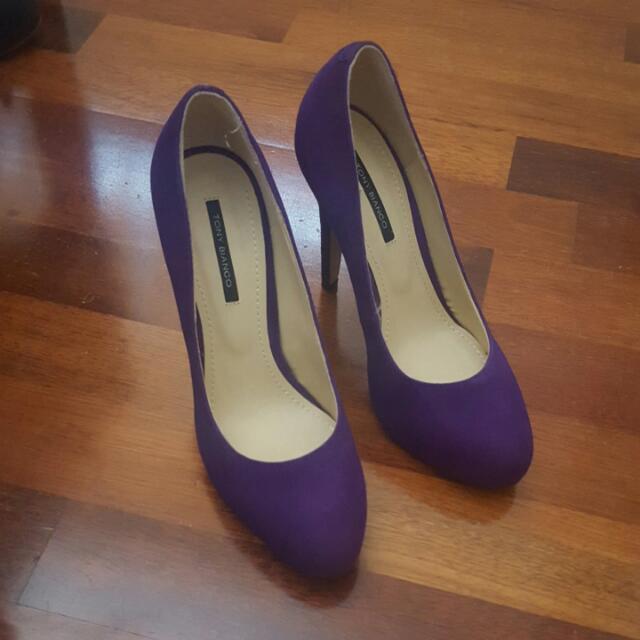 Tony Bianco 6.5 purple pumps