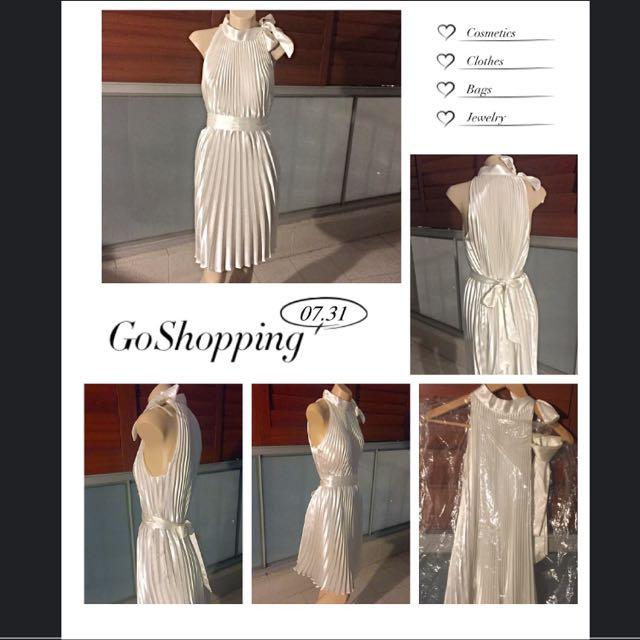 Classic White Evening Dress