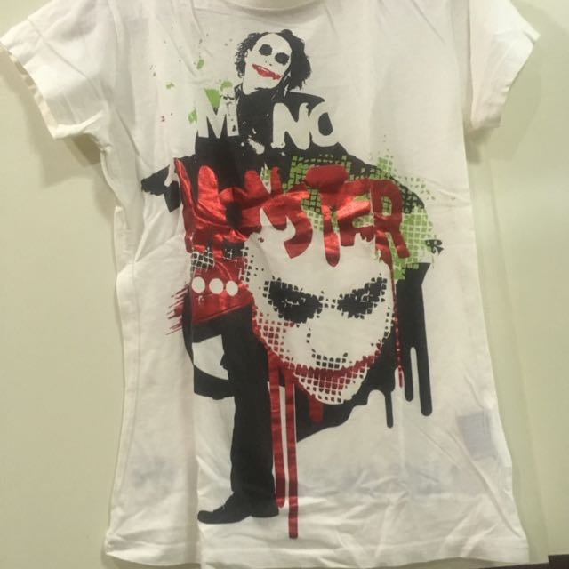 white t-shirt joker