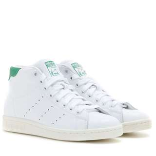 Adidas Stan Smith Mid Leather High-top Sneakers
