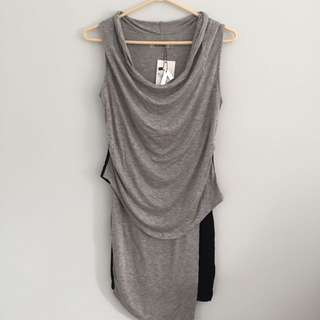 Short Sleeve Two Toned dress