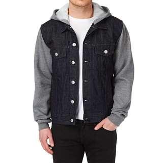 正品滑板quiksilver deadwaterfla jacket rinse夾克牛仔上衣外套 潮流街頭