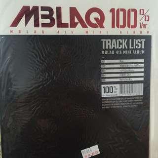 MBLAQ 100% Ver. 4th Mini Album