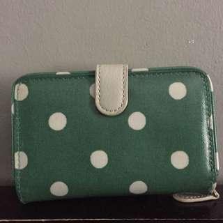 Cath Kidston Green & White Polka Dots Bifold Wallet