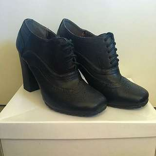Black Bootie Lace Ups