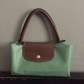 Longchamp Medium w/ Short Handle in Mint Green