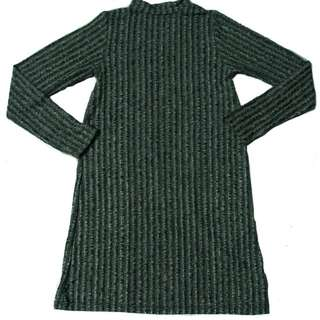 TURLTE NECK KNITTED LONGSLEEVES DRESS