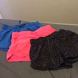 3 Pairs Of Sports Shorts