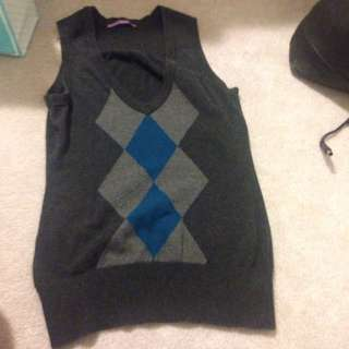 Argyle Vest Smart Set Size Small