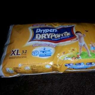 Drypers Drypants Size XL 32pcs