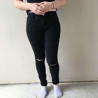 High Waist Skinny Leg Jeans Size 8