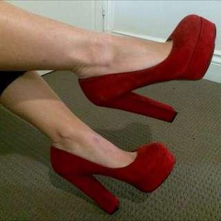 Wittner Sunshine Red heels Size 9