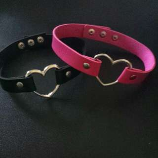 Heart Ring Choker