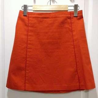 Laura Dawson Orange Skirt