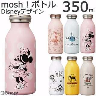 Disney迪士尼懷舊牛奶瓶罐造型二重構造附蓋保溫杯水杯