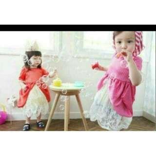 正韓Annika 全新斷貨款右邊粉色公主洋裝 XS