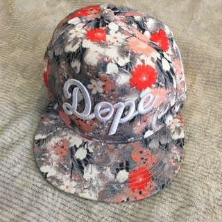 花花 帽子 鴨舌帽 板帽 老帽