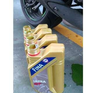 FINA快拿機油 10w50 100%4T全合成機油 公司貨 紅牌重機 黃牌重機 拉轉專用