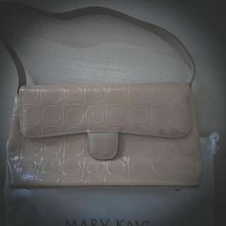 Mary Kay 玫琳凱 駝色超優質感手提肩包全新(庫存共30個)