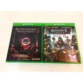 Xbox one 刺客教條:梟雄中文版+惡靈古堡:啟示2 中文版