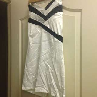 Black And White asymmetrical Dress