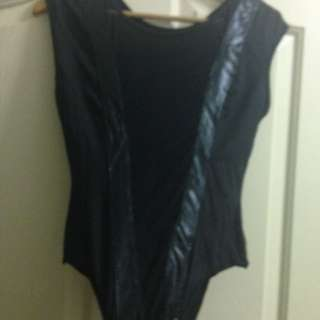 Bla I Body Suit With Lace Middle Section