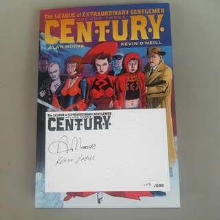 The League Of Extraordinary Gentlemen Volume 3 Century Hardcover HC with Signed Card by Alan Moore & Kevin O'Neill