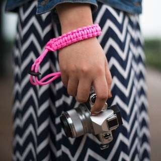 Pink Single Straps Camera Paracord