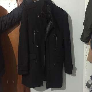 Yd Men's Black Coat Size M