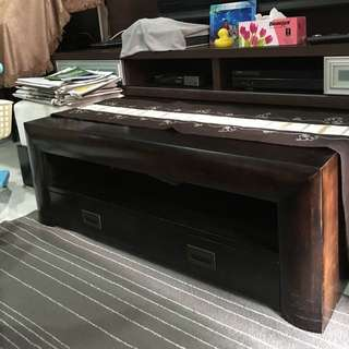 Heavy Solid Wooden Coffee Table. 1.1m