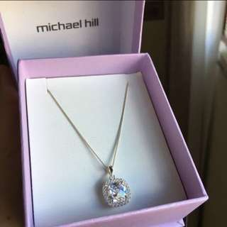 Michael Hill Pendant With Cubic Zirconias In Sterling Silver