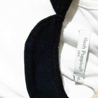 White Hush Puppies Dress With Black Colar