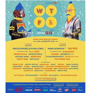 WE THE FEST 2016 2 days pass