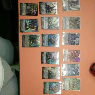 Cardfight Vanguard Cards, 10 Japanese Versions, Out Of These 10 One Card Is Special(SP),4 RRR, And 5 RR. 6 English Versions,2 RRR, 2 RR and 2 Cards From Decks(will Give Free Card Backs for Each Cards,refer To 4th Picture, You Can Choose Between The Two)