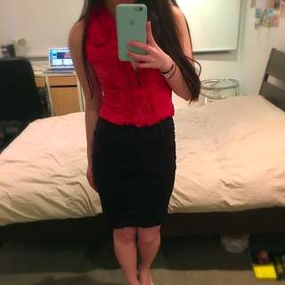 Office Wear Combination - Both Skirt And Blouse