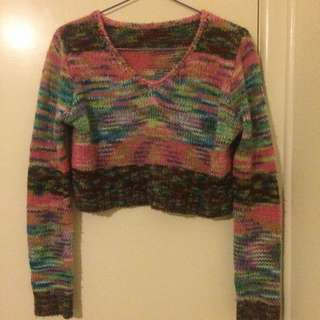 Long Sleeve Crop Knit