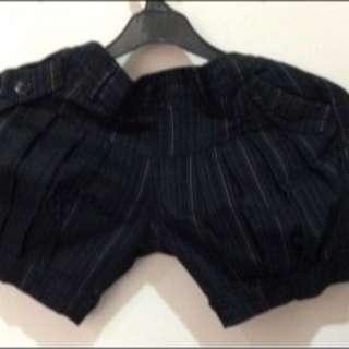 PRELOVED Celana Balon in Black Hot Pants