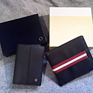 f1c77652dd69d Mont Blanc Business Card Holder 103697 Toffee . Bally Men s Wallet Brown 8  Cards 2 Note