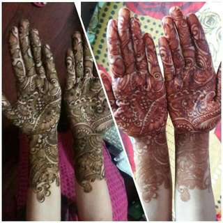 Hena Bridal Full Hand Till Arms 50$ #non Bridal15$ And 25$#traditional#arabic 10$Designs ...  Rates Above Are For Single Hand  For Both Hands 5$ Discount  Leg#feet Designs Also Available At 10$ Each