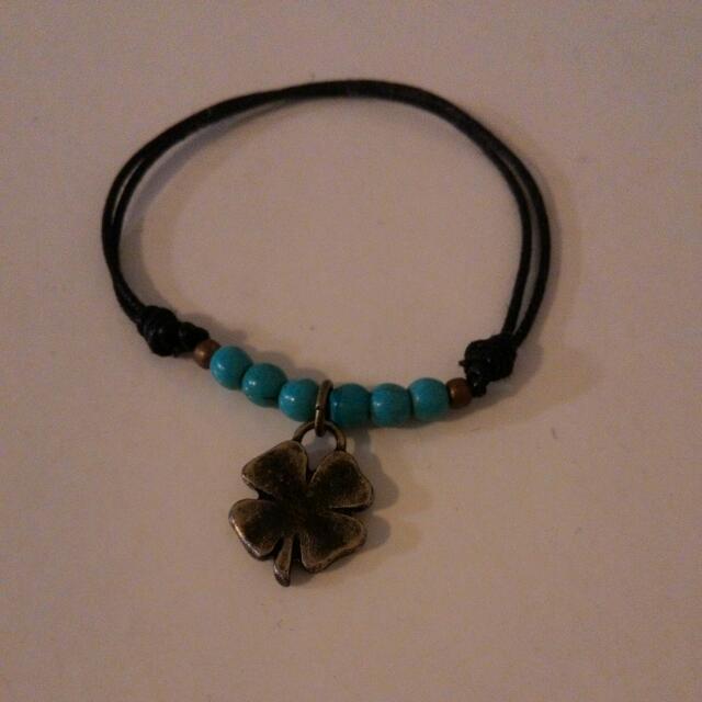 4 Leaf Clover Adjustable Bracelet