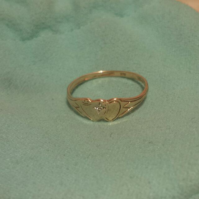 PENDING 9k Gold Ring With Diamond
