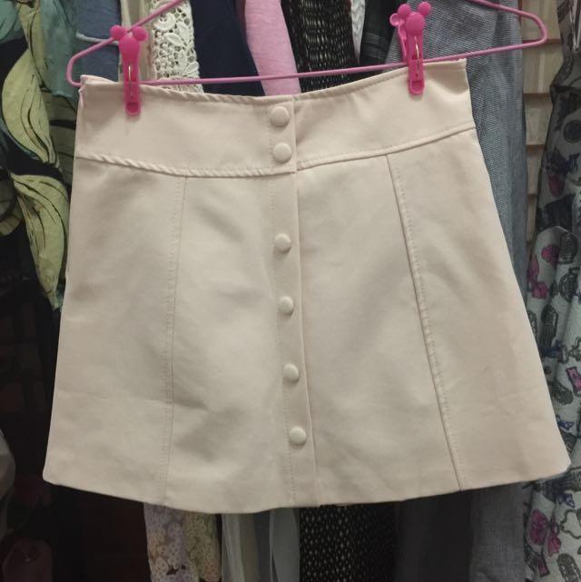 馬卡龍粉嫩氣質短裙