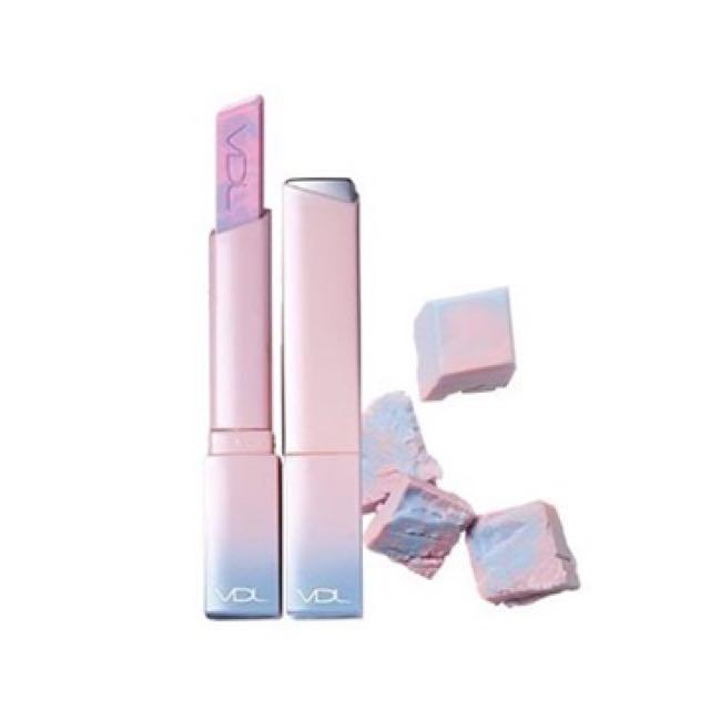 現貨 VDL x Pantone 聯名限量唇膏 口紅 寧靜藍x石英粉