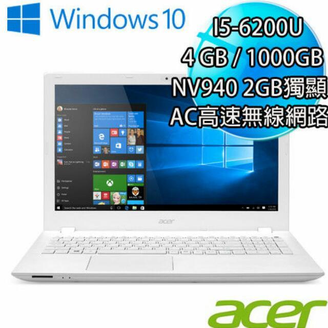 ACER 15吋i5第六代 E5-574G-544L