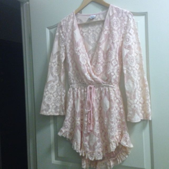 Angel Biba Pink Lace Play suit