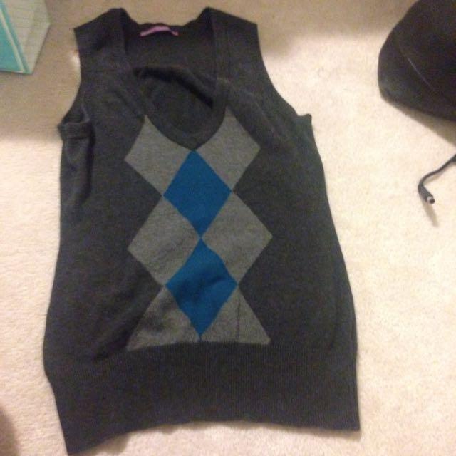 Argyle Vest Smart Set Size Small