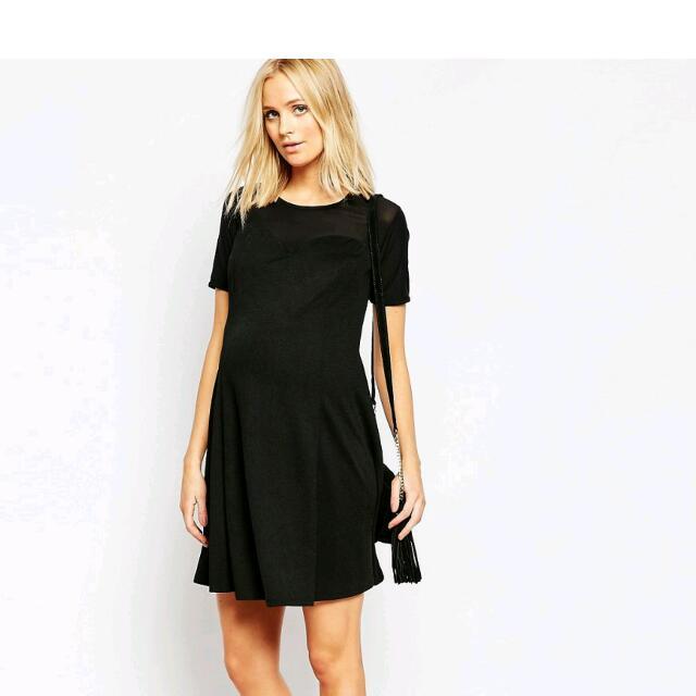 Asos Maternity Black Dress Womens Fashion On Carousell