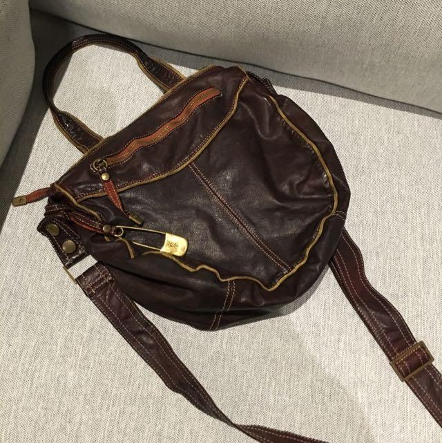 Authentic Sissi Rossi Leather Handbag