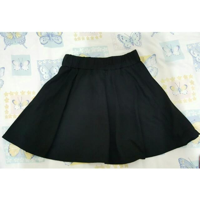 BLACK MINI SKIRT RAMPLE